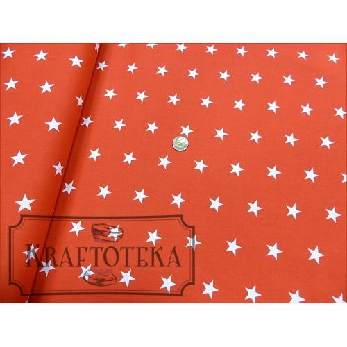 Gwiazdki Białe na Czerwonym