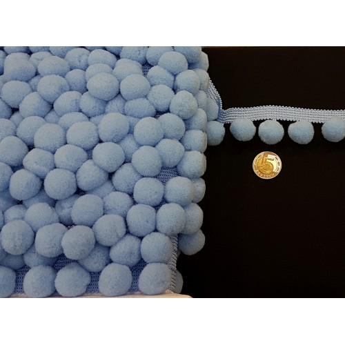Taśma z Pomponami-Duże - Niebieskie