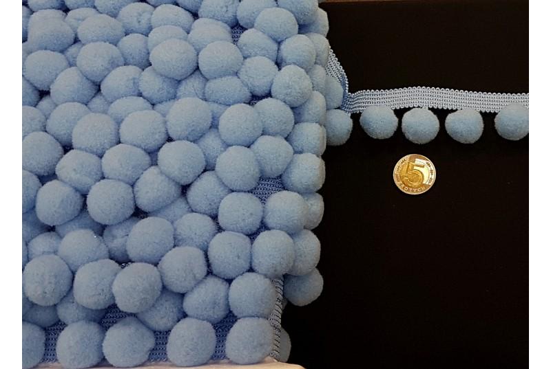 Taśma z Pomponami - Duże - Niebieskie