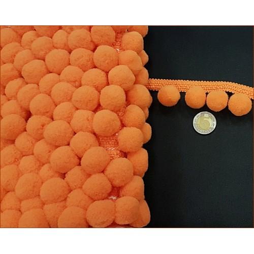 Taśma z Pomponami-Duże - Pomarańczowe
