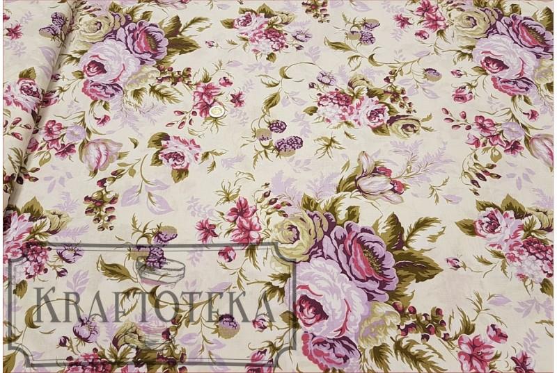 Róże Angielskie Duże Fiolet