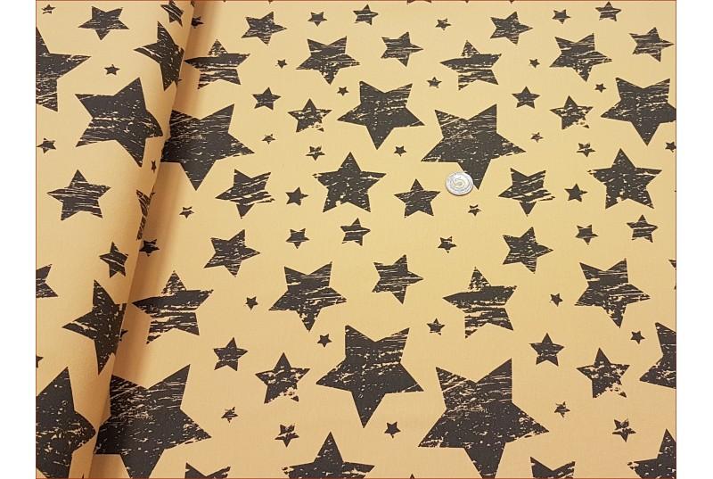 Gwiazdy Mix Czarne - Musztarda