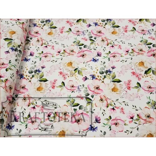 Kwiaty Jabłoni na Off White - Cyfra