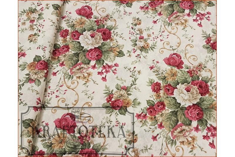 Róże Angielskie Bukiet na Beżu