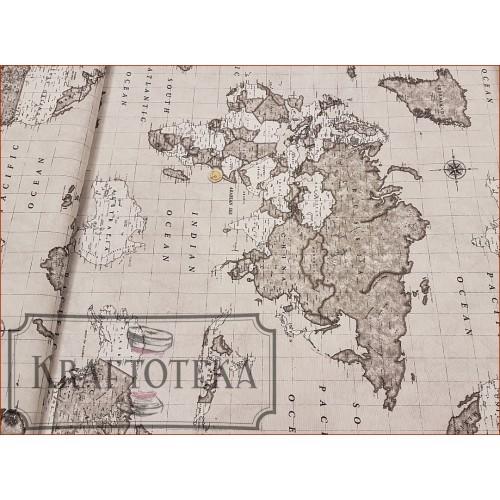 Mapa Świata - Szara