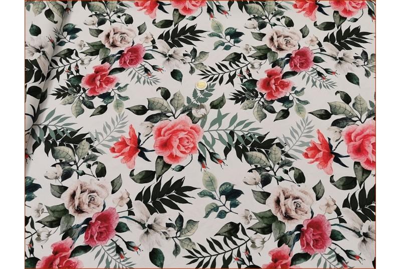 WOD-Kwiaty Róży na Off White