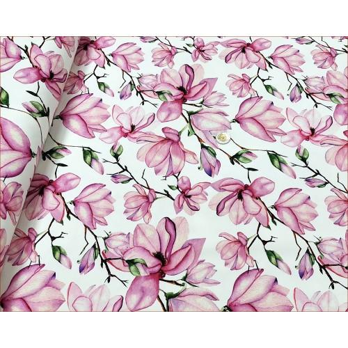 Kwiaty Magnolia na Bieli -Cyfra