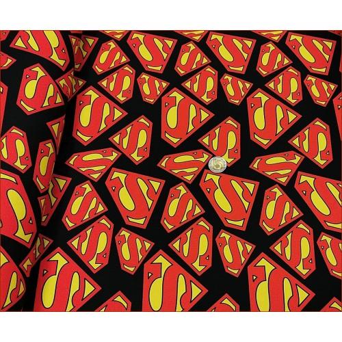 Supermn Logo na Czarnym -Cyfra