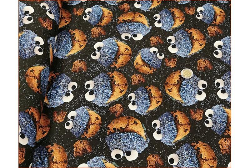 Ciasteczkowy Potwór na Czarnym -Cyfra