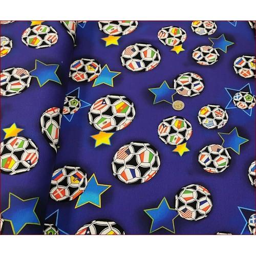 Piłki Flagi na Granat Jasny -Cyfra