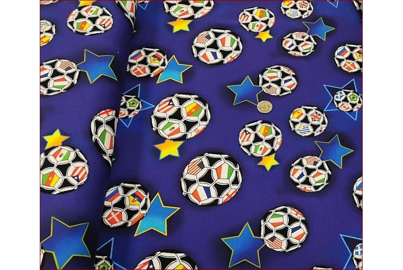 Piłki Flagi na Granat Jasnyi -Cyfra