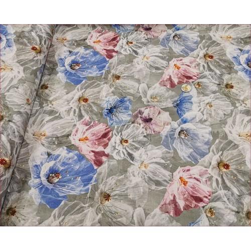 Kwiaty Tiulowe na Szarym -Cyfra
