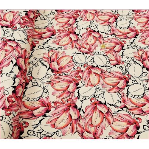Kwiaty Magnolie Różowe i Białe -Biel -Cyfra