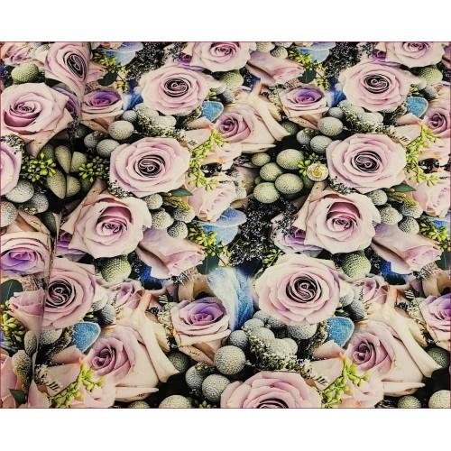 Kwiaty Róży z Fioletem -Cyfra