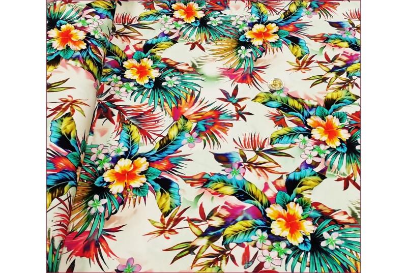 Liście Palmy Hibiskus -Ecrue -Cyfra