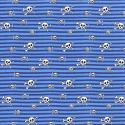 Dzian. Czaszki Niebieskie Paski PREM