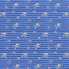 Dzian.Czaszki Niebieskie Paski