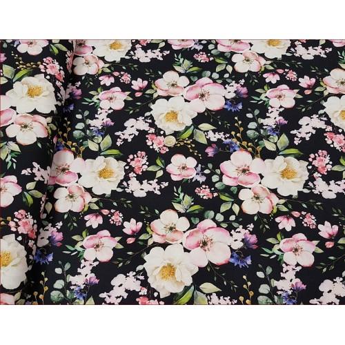 Dzian. Kwiaty Jabłoni na Czarnym  -Cyfra