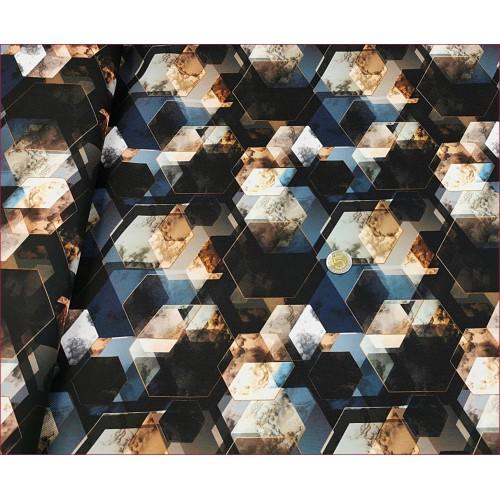 WOD-Sześciokąty 3D -Czarny
