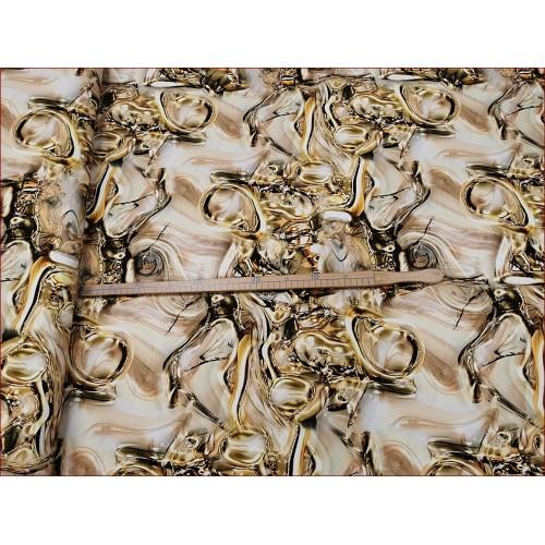 Abstrakcja Złota -Mozaika -Cyfra